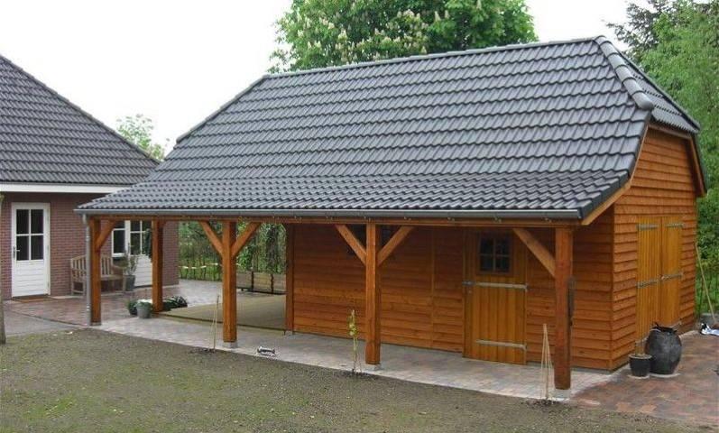 Nostalgische schuur 33 schipper houtbouw - Veranda met dakpan ...
