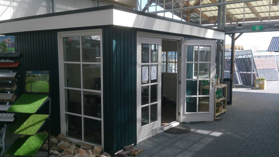 Showroom model kantoorruimte