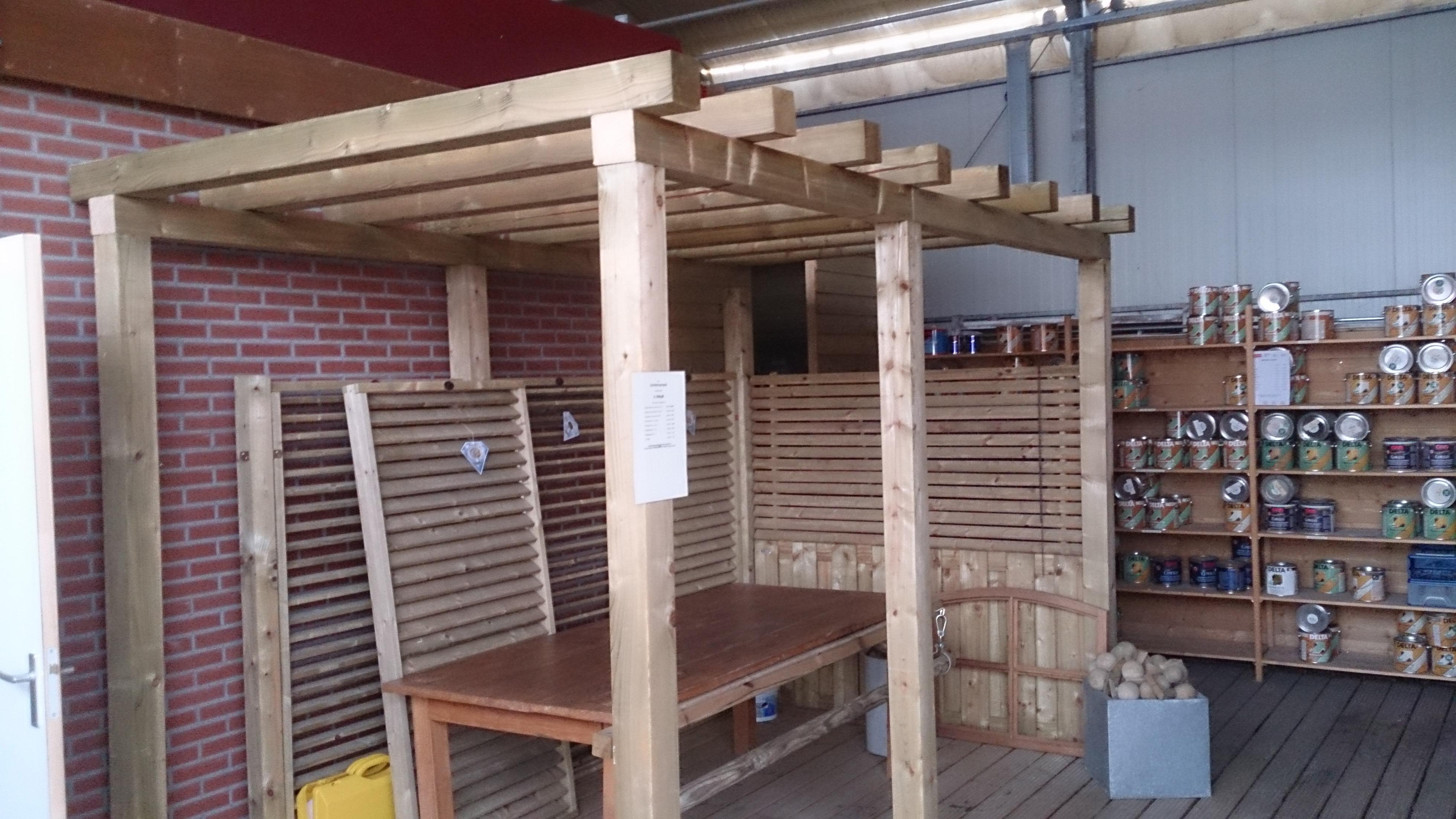 Showroom model schutters pergola schipper houtbouw schipper houtbouw - Bedekking voor pergola ...